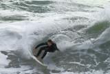 surfing at Porthtowan
