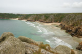 Porthcurno beach from Logan Rock