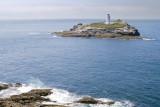 Godrevey Island and lighthouse