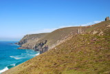 St Agnes head with Wheal Coates engine houses to right