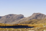 Scafell, Scafell Pike and Long End from 3 tarns pass - somewhat dominate the central fells
