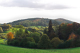 from Oyster Hill to Frith Hill with Hope End lake between - autumn