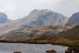 Scafell and Long end from Three tarns pass (only 2 tarns these days)