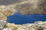Angle tarn - division of return routes beyond, left for Langdales, right for Rossett gully; wish I had gone left!