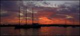Sunset over Puerto Ayora