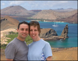 Bartolome Island with Pinnacle Rock in the background