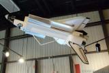Space Shuttle model in normal orbit configuration