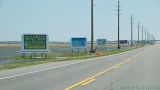 Billboards along the road to Chincoteague