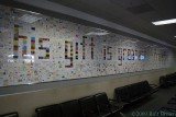 Mural made from business cards