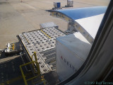 Loading the last of the baggage