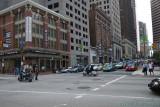 Police escort stops cross traffic