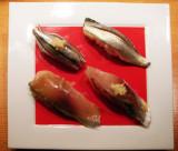 Hikarimono with 黍魚子 kibinago, kohada, aji, saba 1640