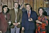 Greg Everett, Deane Johnson, Bob Mosiman and Jewell Dewitt at the 1972 St. Joe Polyester Convention