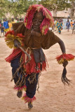 Dogon Dancer in Goiter-Man Mask