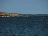 Vi har passerat Delet i kraftig sjö och vind