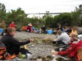 Gemensam middagsplats på Brunskär