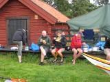 Lunch vid Rågskär, Lars, Mickael, Lisen och Kjelle