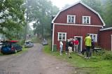 De flesta samlades redan på onsdagskvällen i Mörtfors.