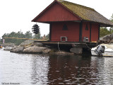 Den speciella sjöboden vid -Strupös sydspets.