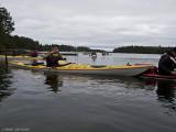 Dags för paddling igen, natten hade bjudit på kuling men hur mycket av den fanns kvar?