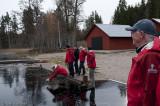Isprovning efter förmoiddagens planeringsmöte.