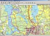 Spåret vi paddlade ca 20 km. ledare Kjell, Tomas,  Anita, Ingegerd och Maria halvledare