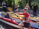 Först paddelteknik med Anja