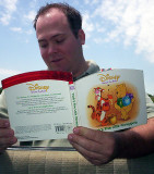 Gregg reads from the book of Pooh
