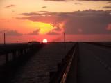 Sunset between the bridges