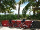 Sea wall & bicycles