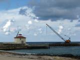 Ocean Ridge,  Inlet pier &  construction work