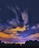 Night sky over Geneva