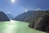 The upper dam at the top of Grimsel Pass