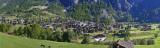 View of Evolene, canton of Valais, Switzerland