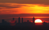 Urban Landscape at Sunset