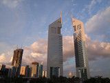 Sheikh Zayed Road and Emirates Towers Dubai.jpg