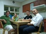 2036 28th June 06 Drinks in the Kitchen of the villa.JPG