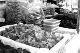 Nuts and dried fruit on the market in Kitti