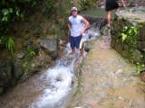 Billy getting wet