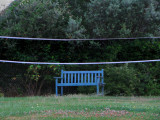 Bench and Badminton net. France.jpg