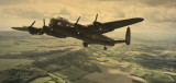Lancaster fully loaded climbing over West Sussex.Photoshop.jpg