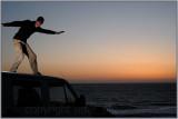 'surfing' the van ;)