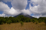 Arenal Volcano with Puffy Clouds