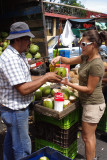 purchasing coconut drink