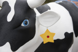 Happy Cow With Ear Ring