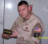 TSgt Matt Rebholz, Kennel Master 407 ESFS Displays his new Leatherman Surge