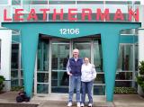 Juli Warner & Phil Carroll in Front of Leatherman