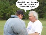 Bill Cummings encourged by Dave Adams