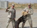 SSgt Laub and MWD Kelly with TSgt Somers