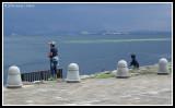 Fishing on the shore of Biwa-ko